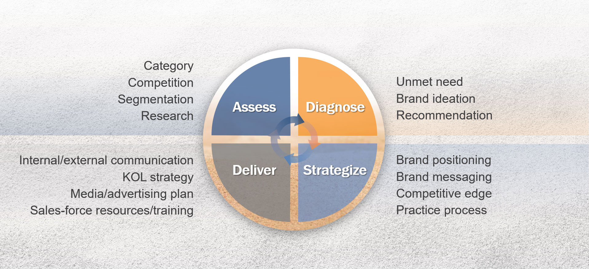 What Sandbox Strategic builds - assess, diagnose, strategies, deliver